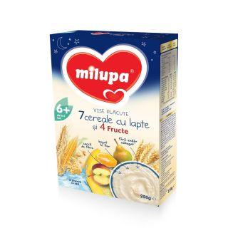 Milupa Vise Placute 7 cereale Lapte si 4 fructe 250 g