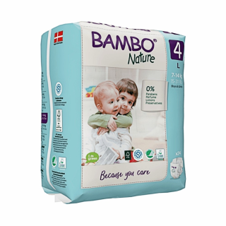 Scutece Bambo Nature Nr. 4( 7-14 kg) 20 buc + gel par/corp 150 ml