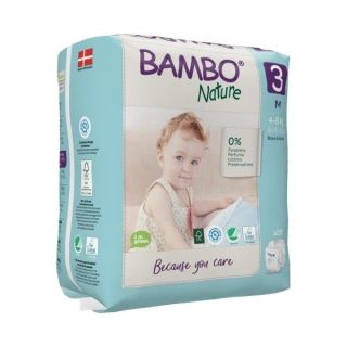 Scutece Bambo Nature Nr. 3( 4-8 kg) 28  buc + gel par/corp 150 ml