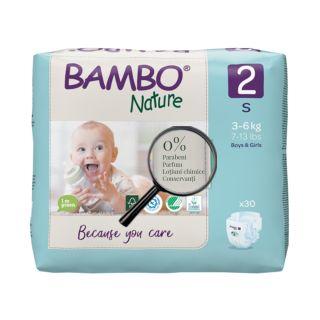 Bambo Nature Eco-Friendly Scutece Mini 3-6 kg (Marimea 2) 30 buc