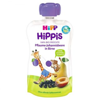 Piure pere cu prune si coacaze negre Hippis 100g