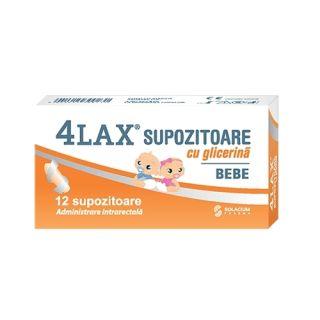 4LAX Supozitoare cu glicerina pentru bebelusi