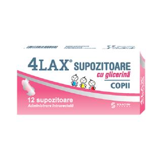 4LAX Supozitoare cu glicerina pentru copii