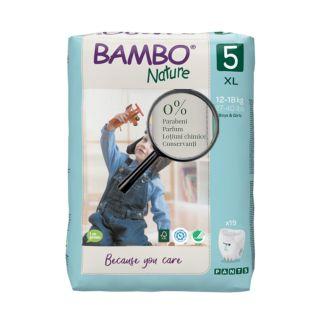 Bambo Nature Eco-Friendly Scutece antrenament 12-18 kg (Marimea 5) 19 buc.