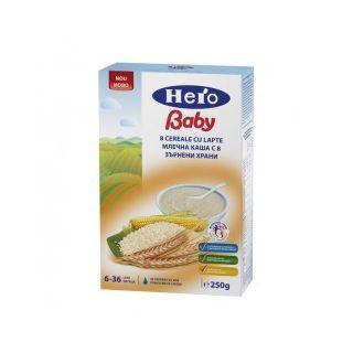 Hero Baby 8 Cereale cu lapte + 6 luni