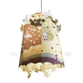 Abajur pentru lampa de tavan copii Pabobo cu Hipopotami care proiecteaza pe perete PABPL01HIPPO