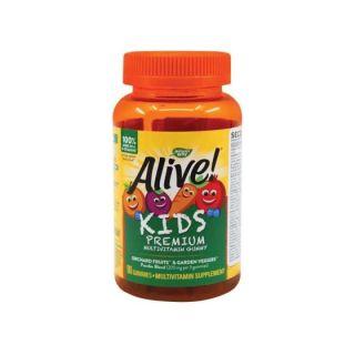 Alive Gummies Multivitamine pentru copii 90 jeleuri Secom