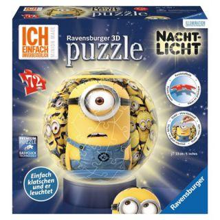 Puzzle 3D Minions cu Lumina, 72 piese Ravensburger