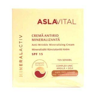 Aslavital MineralActiv Crema antirid mineralizanta SPF 15