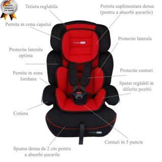 Scaun auto 9-36 kg FreeMove Red BabyGo