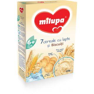 Milupa 7 Cereale cu lapte si biscuiti 6 luni+, 250 gr