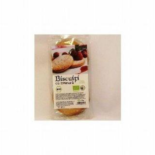 Solaris Bio Biscuiti cu crema de zmeura 175 g