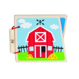 """Hape - Book At-The-Farm - Cartea """"La ferma"""""""