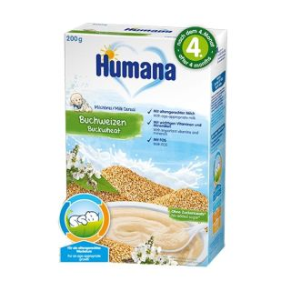 Cereale Humana cu lapte si hrisca 4 luni 200 g