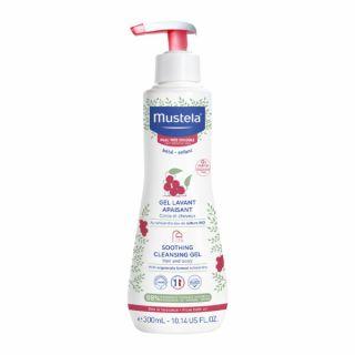 Gel curatator calmant pentru piele sensibila Mustela 300 ml