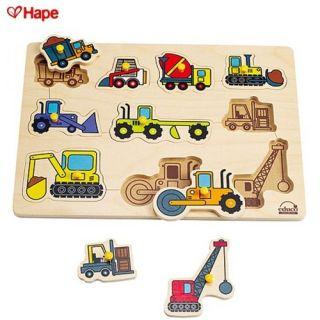 Hape – Puzzle vehicule de constructie