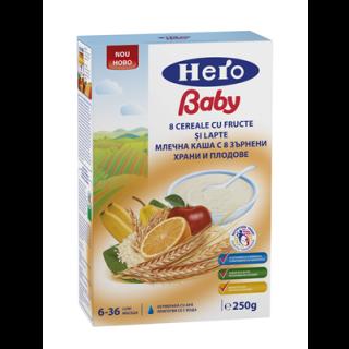 Hero Baby 8 Cereale cu fructe si lapte + 6 luni
