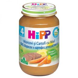 HiPP Morcovi, Cartofi si Miel Bio, de la 4 luni