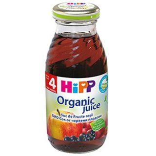 HiPP Suc de Fructe Rosii Bio, de la 4 luni