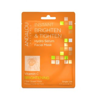 Secom Andalou Naturals Instant Brighten & Tighten Hydro Serum Facial Mask 18ml