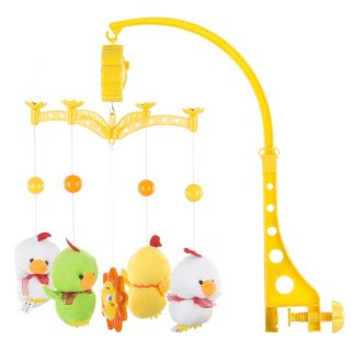Carusel muzical pentru patut Chipolino Two white Ducks