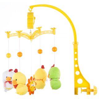 Carusel muzical pentru patut Chipolino Two yellow Ducks
