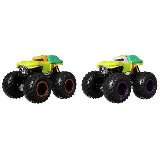 Set Hot Wheels by Mattel Monster Trucks Michelangelo vs Donatello