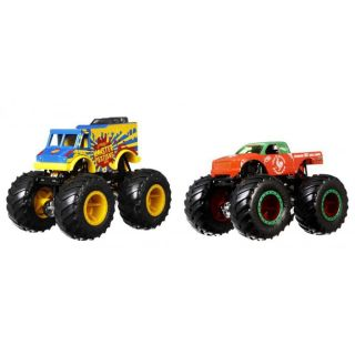 Set Hot Wheels by Mattel Monster Trucks Monster Patriot vs Tuon Ot Sriracha