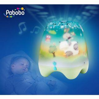 Lampa de veghe pentru copii si bebelusi Pabobo cu cantece linistitoare cu senzor pentru plansul copiilor solaris-PABRL03NATURE