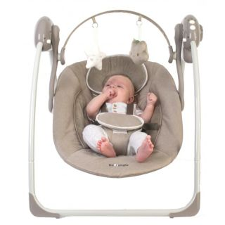 Leagan portabil BO Jungle Bej pentru bebelusi cu arcada jucarii BJB700300
