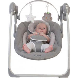 Leagan portabil BO Jungle Gri pentru bebelusi cu arcada jucarii BJB700310