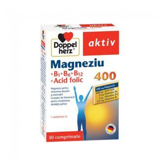 Magneziu 400 + B1+ B6 + B12 + Acid folic Doppelherz aktiv