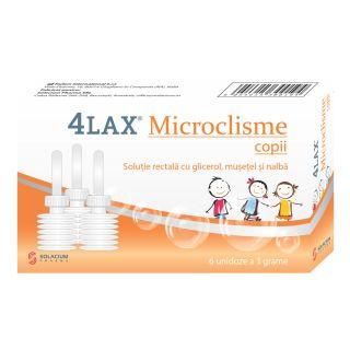 4Lax - Microclisme copii - 6 unidoze x 3 g