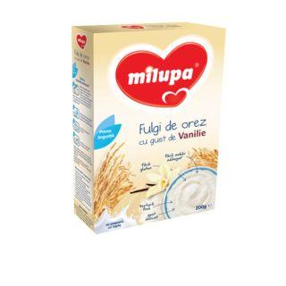 Milupa Cereale fara lapte cu fulgi de orez si vanilie 200 g