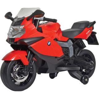 Motocicleta electrica BMW K130S cu sunete si lumini pentru copii rosie GL38967