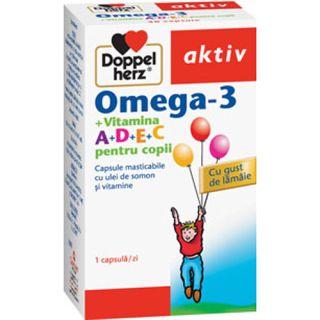Omega 3 + Vitamine pentru copii Doppelherz aktiv