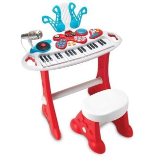Orga muzicala cu 37 clape Winfun pentru copii cu scaunel WF2072