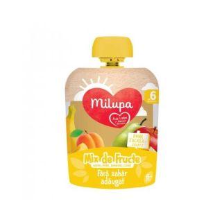 Piure de fructe mere, pere, banana, caise 90g Milupa