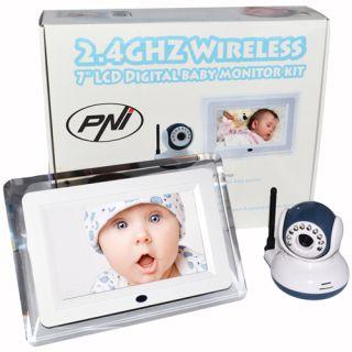 PNI Video Baby Monitor B7000 ecran 7 inch wireless