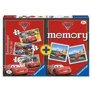 Puzzle + Joc Memory Disney Cars 3 buc Ravensburger