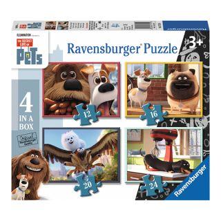 Puzzle pets – singuri acasa, 12/16/20/24 piese Ravensburger