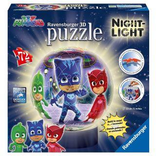 Puzzle 3D Luminos Eroi in Pijamale 72 piese Ravensburger