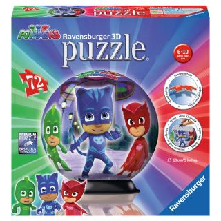 Puzzle 3D Eroi in pijamale 72 piese Ravensburger