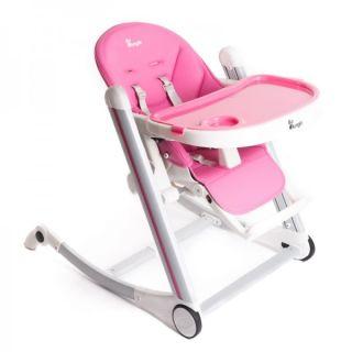 Scaun inaltator de masa Bo Jungle pentru copii reglabil Roz BJB710120
