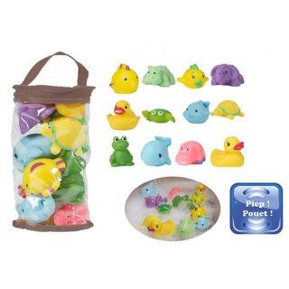 Set 12 jucarii de baie pentru bebelusi Bo Jungle BJB900100