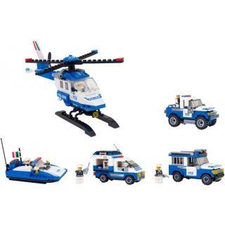 Set Politie pentru baieti Cubix Globo GL38246