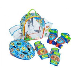 Set rotile Paw Patrol Saica pentru copii cu accesorii protectie si casca marimi reglabile 24-29 solaris-SA7475