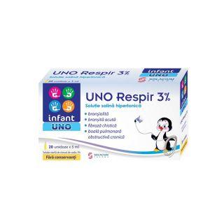 Solutie hipertonica cu acid hialuronic Infant Uno Respir 20 unidoze