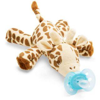 Jucarie cu suzeta ultra soft 0-6 luni Girafa SCF348/11