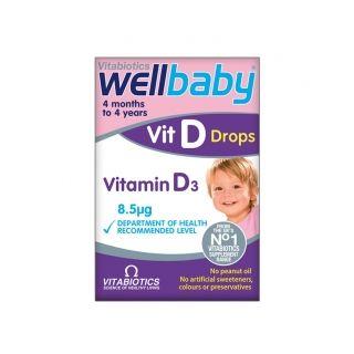 Wellbaby Vitamina D picaturi 30 ml Vitabiotics
